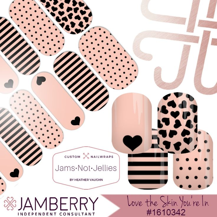 Love The Skin You're In ❤ Jamberry Custom NAS Design ❤ Mary Kay Independent Consultants! Wear your business right at your fingertips like I do! Such an amazing conversation starter!