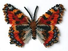 Butterfly Aglais Urticae Beading Pattern by Katherina Kostinsky at Bead-Patterns.com
