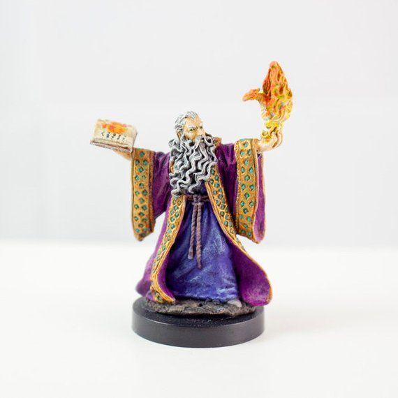 Human Wizard/Mage - Hand Painted Metal Miniature | My Minis