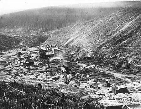 Barkerville after a fire burnt the town