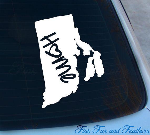 Rhode island decal state decal home decal ri sticker love laptop macbook car decal