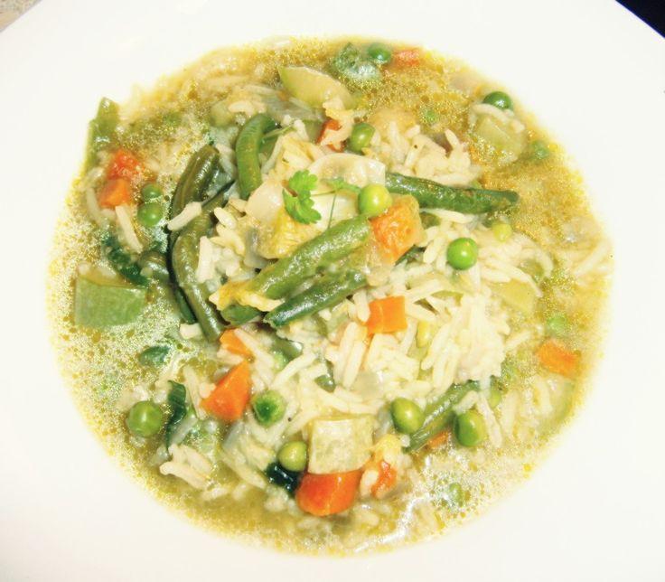 Supă de orez cu legume (de la 1 an)