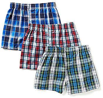 Class Club Big Boys 8-20 3-Pack Plaid Woven Boxer Shorts
