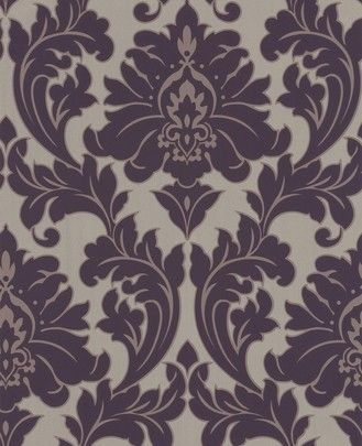 baroque style characteristics | ... wallpaper Poise 30-434 baroque lilac gold Tapeten Graham & Brown Poise