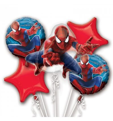 Spiderman 2 Balloon Bouquet Party Themes and Decorations | Party Corner #Spiderman #PartyCorner