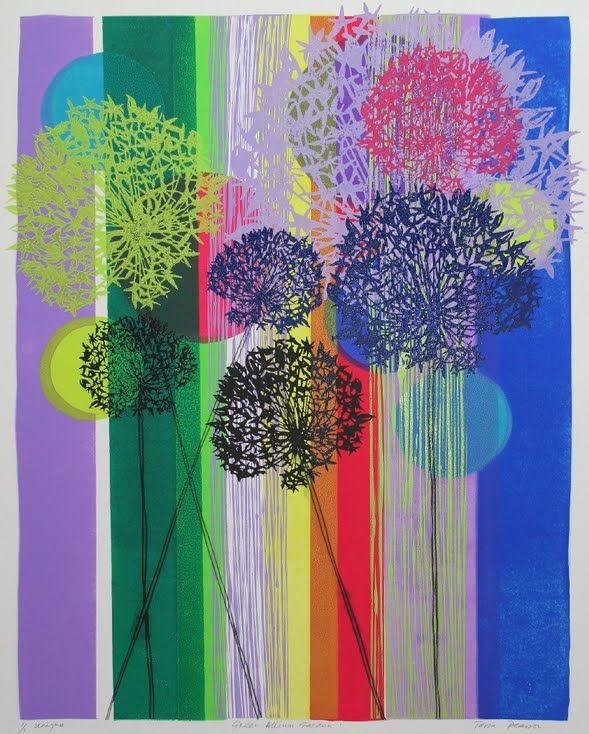 Green Allium Garden by Tessa Pearson