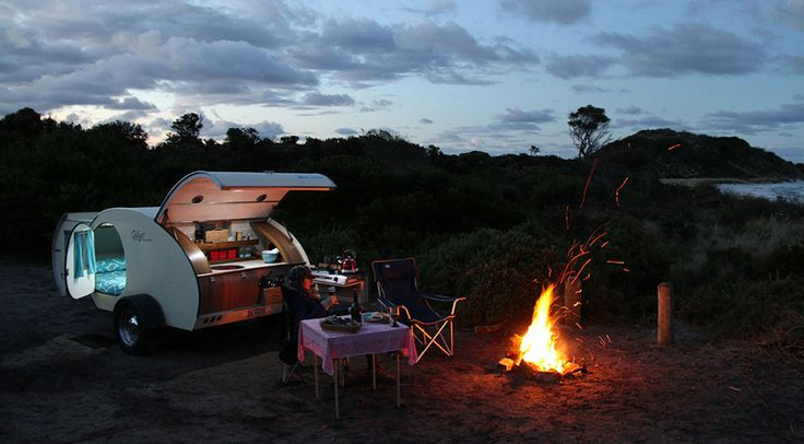 This ultra small yet highly functional teardrop camper is perfect for the frequent traveler.