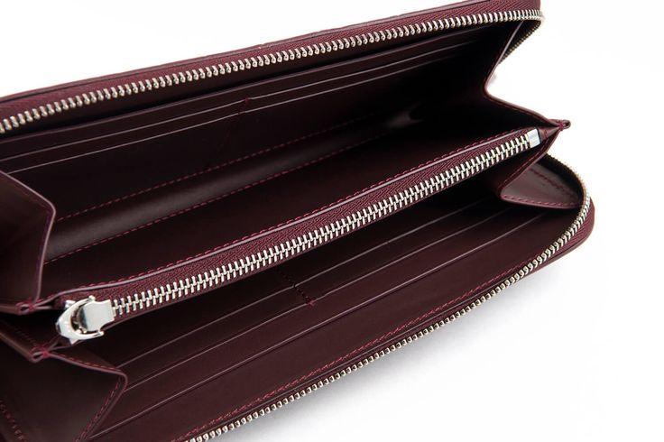 ラウンド長財布 POTTER  カラー:ボルドー サイズ:H 20 cm × W 10 cm × D 1.8 cm 重さ:約190g  #クロコダイル #わに革 #ワニ革 #エキゾチックレザー #爬虫類皮革 #クロコ財布#長財布#ラウンド長財布
