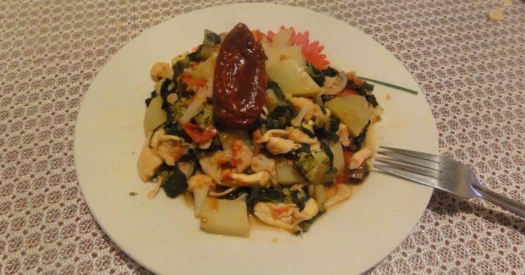 Fabulosa receta para Bistec de res. Bistec de res con jitomates, verduras y chile chipotles, picosito, bien rico!!!