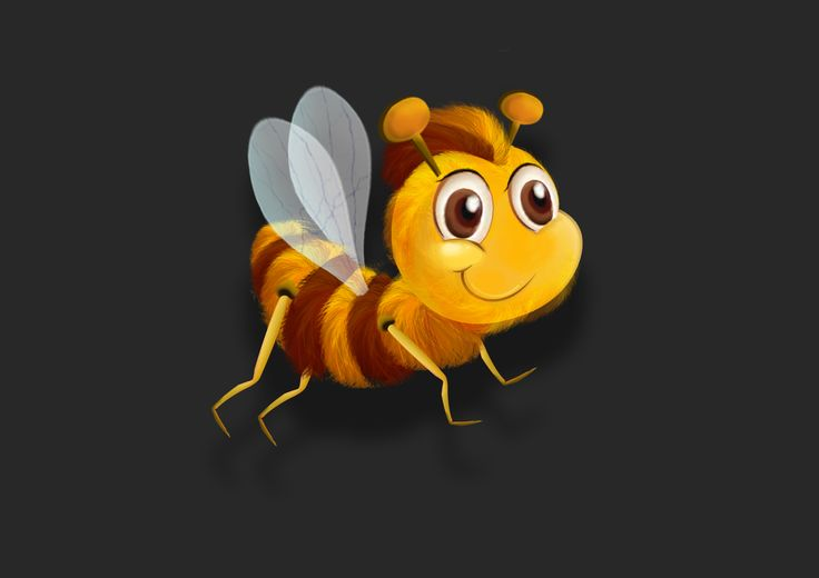 #digitalpaint #honeybee #characterization #gamecharacter