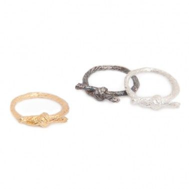 The perfect little symbol of love and friendship. KNOTTED RING - from £70.