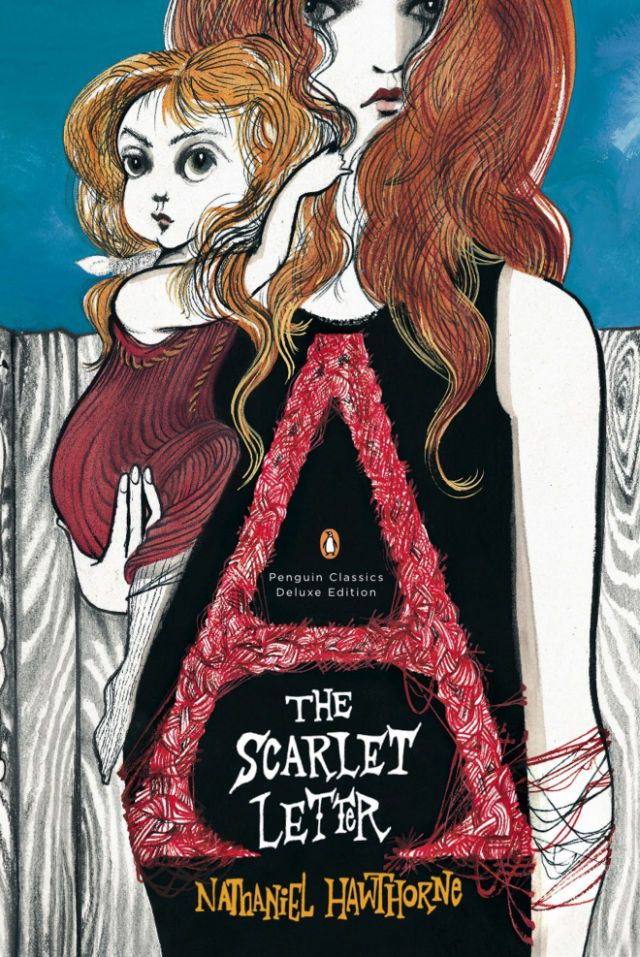 awesome updated book cover for the scarlet letter by nathaniel hawthorne