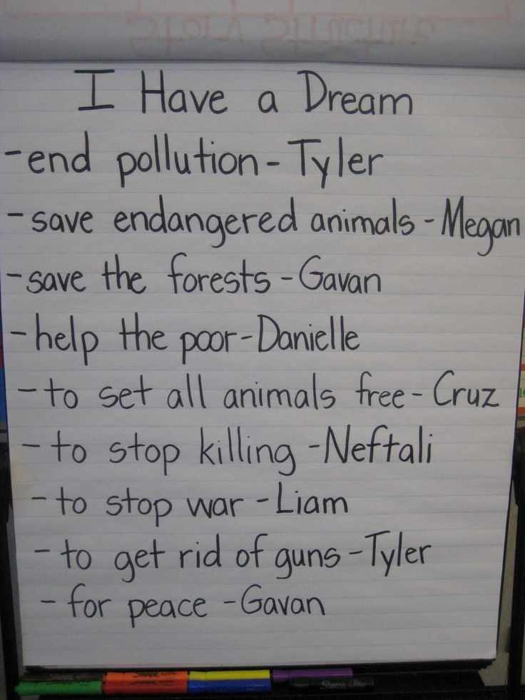 I have a dream poster good mlk day activity.