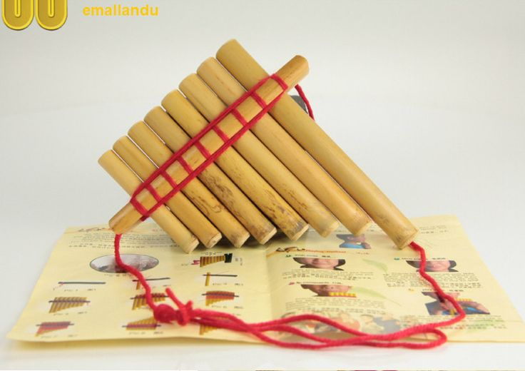 China Pan flute  8 Pipes Arundo donax Reed Bamboo DIY Musical Toy Pan Flute Pan pipe Children Instrument