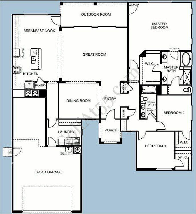 Meritage Homes Floor Plans Luxury Province Maricopa Az Floor Plans Models Golfat55 House Floor Plans Floor Plans New House Plans