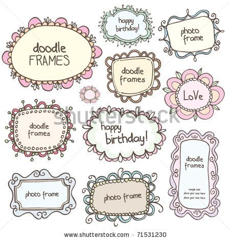 Vector Download » cute doodle frames - » High Quality Vector Graphics download and share your vector