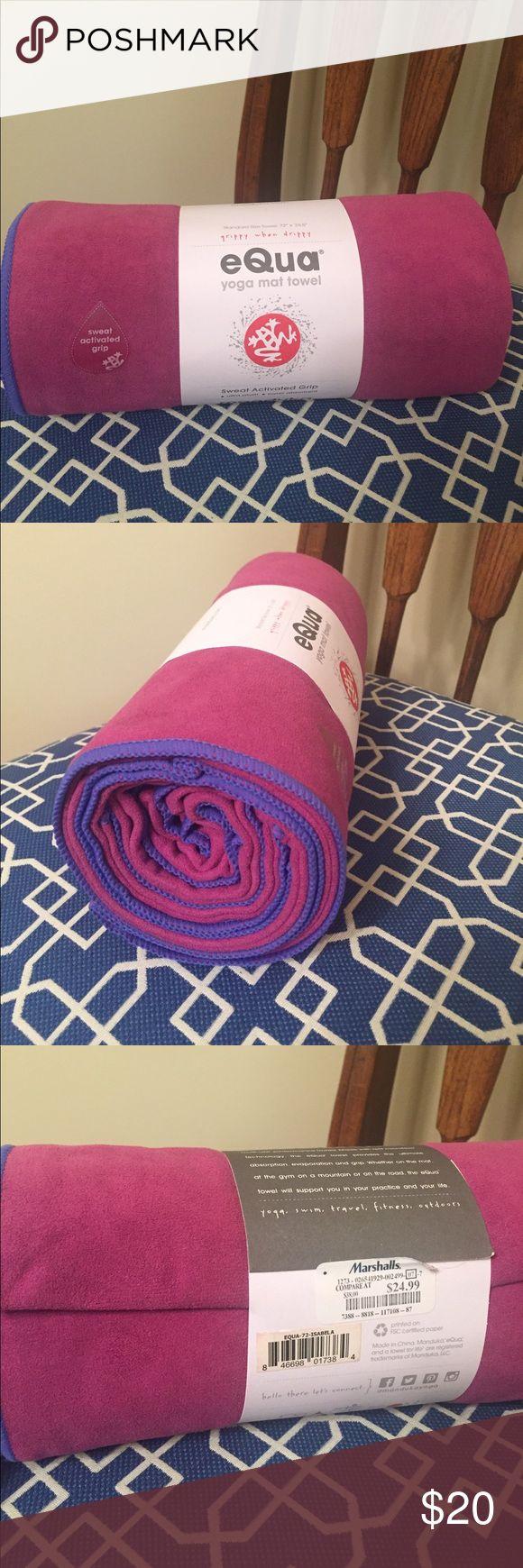"NWT manduka yoga mat towel eQua 72"" x 26.5"" yoga mat towel for hot yoga. eQua sweat activated grip is super absorbent microfiber. Never opened, because I already have several. manduka Other"