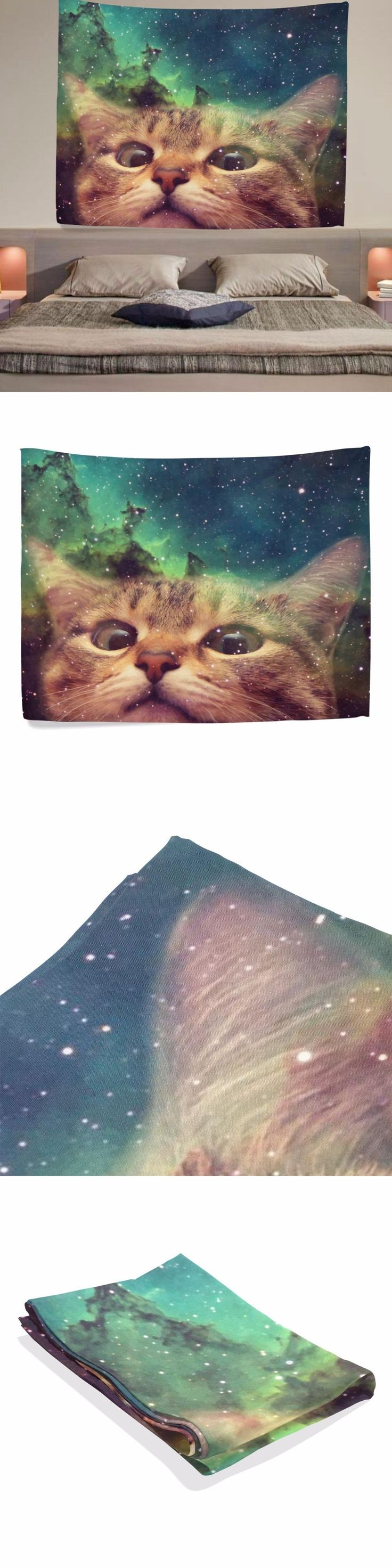 Tapestry Blue Indian Mandala Tapestry Hippie Bohemian Rectangle Indian 153cm X 102cm starry sky cat