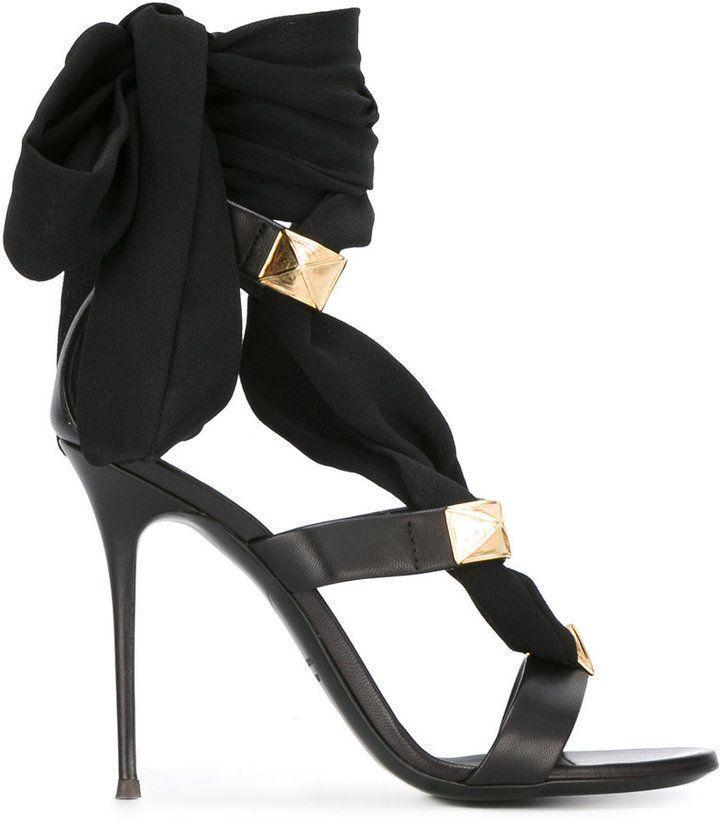 cb2bf728b8f Giuseppe Zanotti Design ribbon stiletto sandals   giuseppezanottiheelsstilettos  giuseppezanottiheels2017