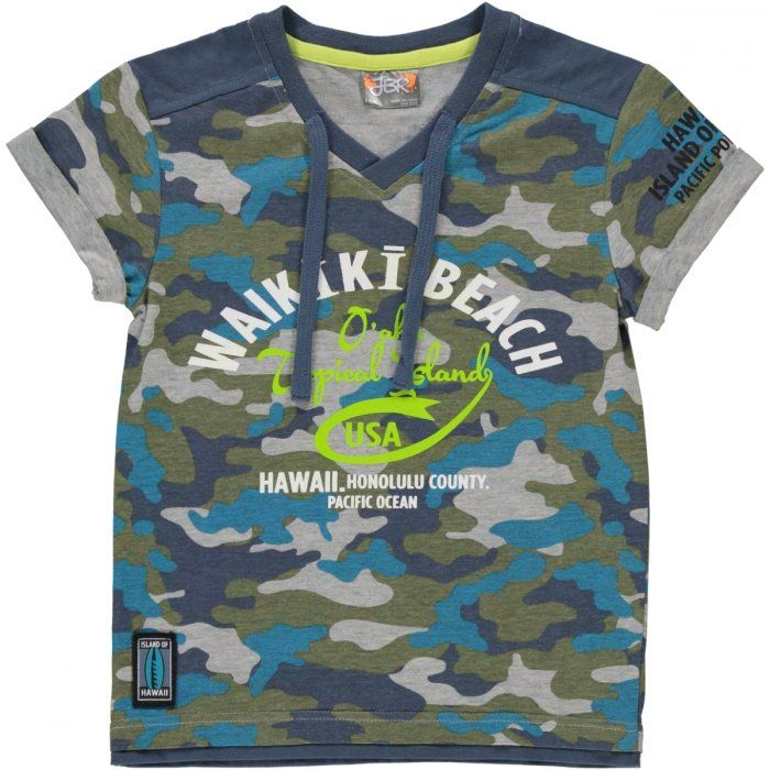 Camo v-neck t-shirt Image 1