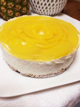 簡単♪桃のムースケーキ♪