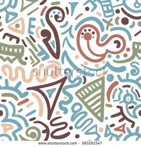 Hand drawn vector abstract seamless pattern in ethno style. Background for printing brochure, poster, party, summer print, vintage textile design, card, fabric, wallpaper or wrapping.