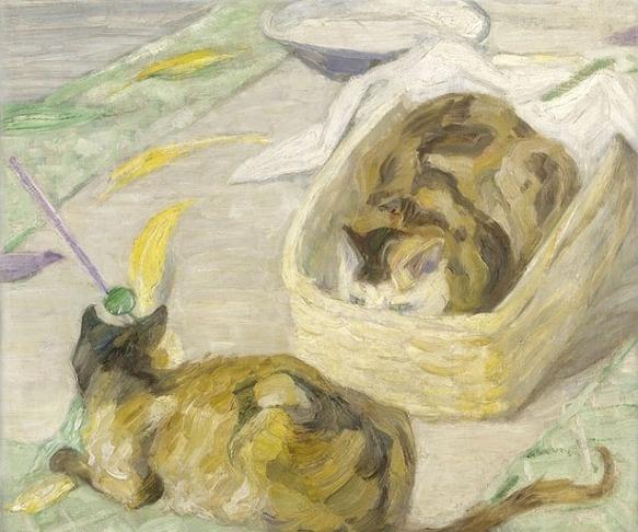 Franz Marc, Cat Basket, 1909
