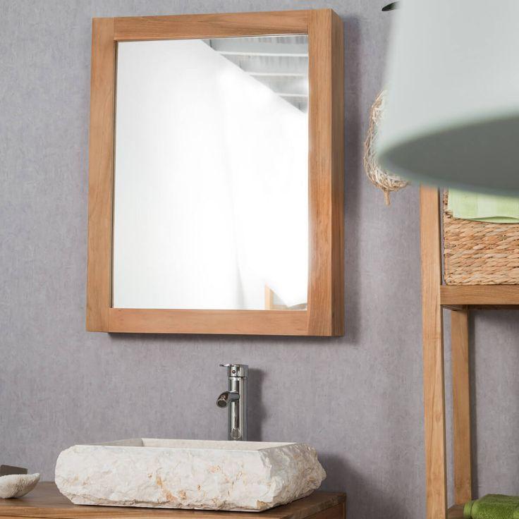 Soignez l'originalité de votre salle de bain grâce à cette armoire miroir murale. L'armoire de toilette est muni de 3 niveaux de rangement afin d'optimiser votre espace bain. Dimensions miroir Longueur : 63 cm Hauteur : 80 cm Profondeur : 12 cm