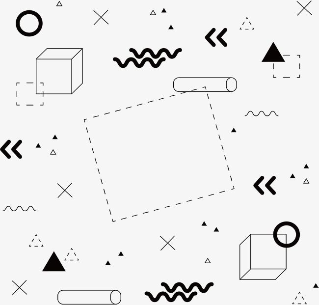 Black Geometric Graphic Cover Vector Png Abstract Graphics