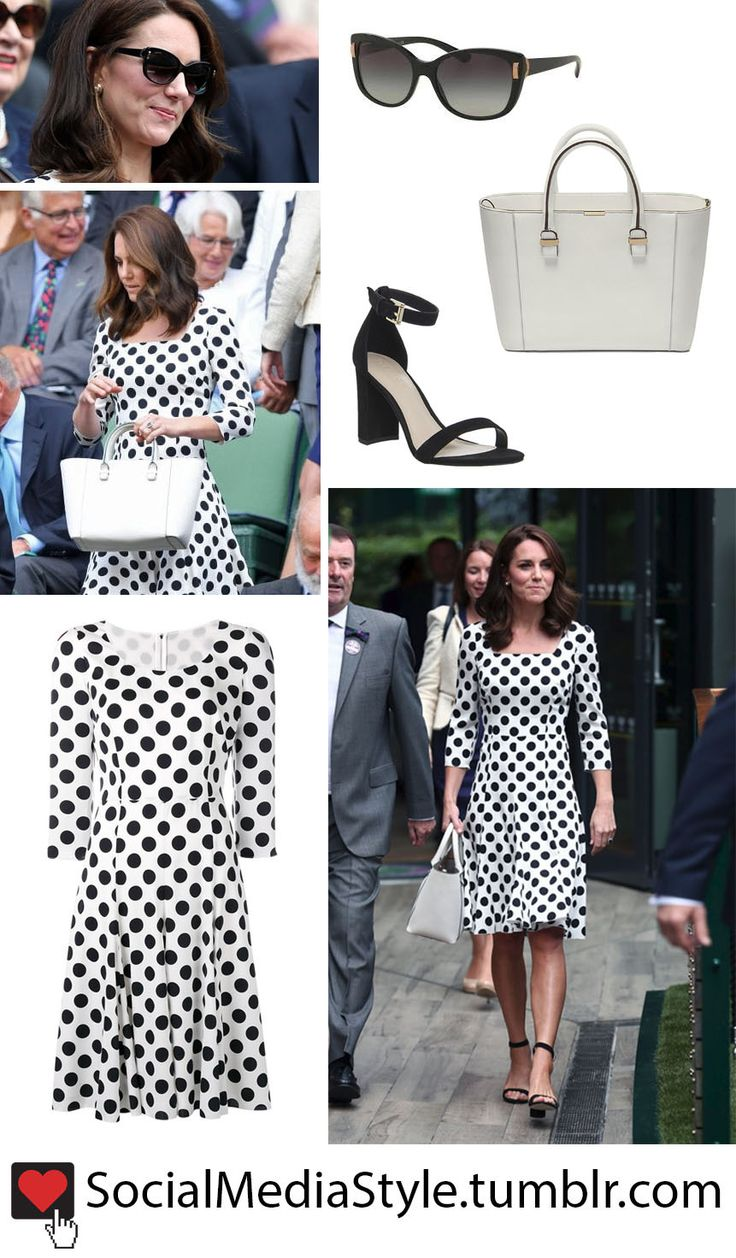77 best kate middleton social media style images on pinterest buy kate middletons sunglasses polka dot dress white purse and black sandals from ombrellifo Image collections