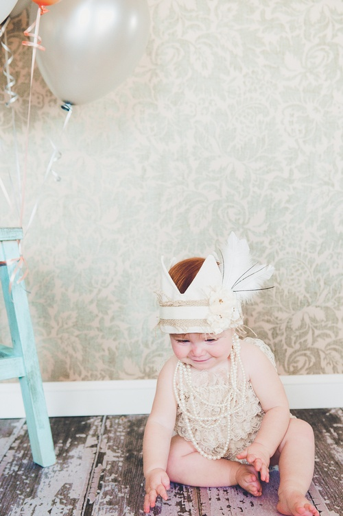 Vintage Crown & Lace romper!! Adorable!!: Lace Romper, Birthday Boys, Birthday Crowns, Emma Birthday