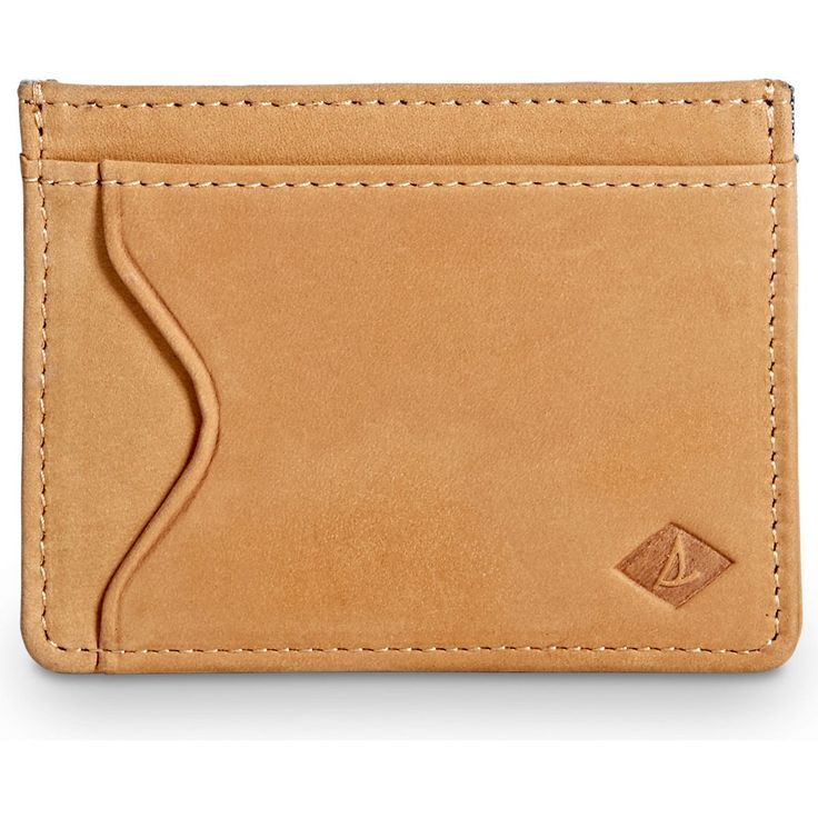 SPERRY Men's Card Case Wallet - Sahara/Chambray. #sperry #