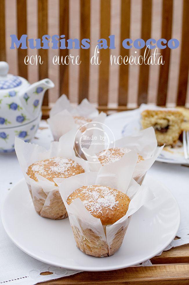 Fiordirosmarino: muffins al cocco con cuore di nocciolata