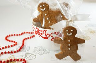 Creamy PHILADELPHIA Cream Cheese, fragrant spices and molasses all team up to make  the dough for these easy-to-make gingerbread cookies - perfect for holiday gift-giving.