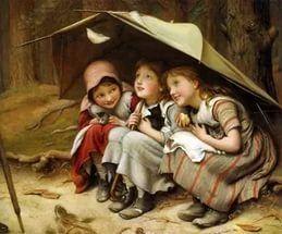 kızlar - Şemsiye - altındaki - kızlar - çocuk - resim bedava indir.