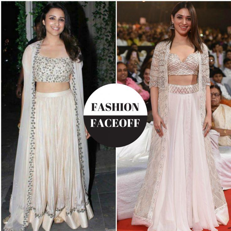 Fashion Faceoff: Parineeti Chopra or Tamannaah Bhatia, who wore the white lehenga with cape better?
