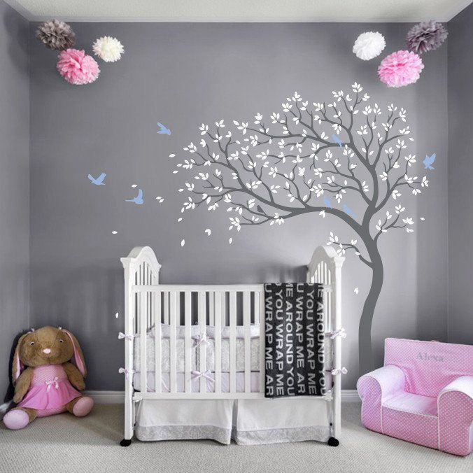 Nursery Tree Blowing in the Wind Wall Decal – all nursery decals