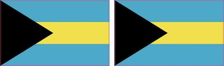 2.5in x 1.5in Bahamas Flag Stickers | StickerTalk®