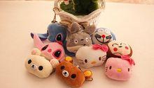 Kawaii Çok Seçenekli Mini 3 cm Totoro, cat vb. peluş hediye oyuncak, dolması peluş dize anahtarlık Oyuncak bebek, yumuşak oyuncaklar için buket(China (Mainland))