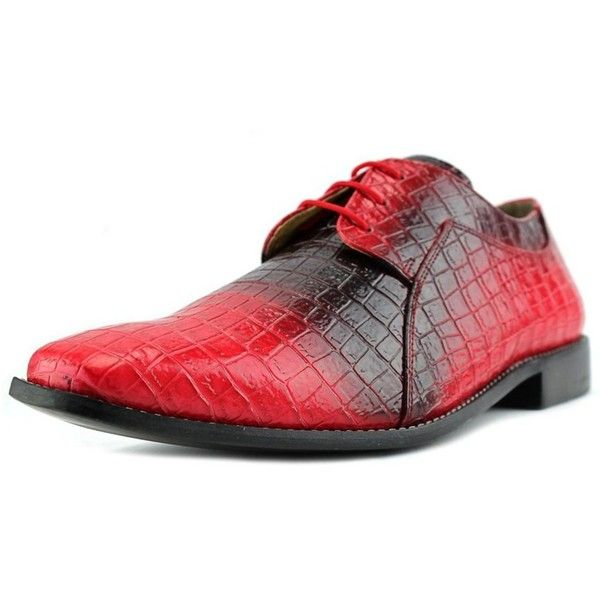 Giorgio Brutini Giorgio Brutini Heaton Round Toe Synthetic Loafer ($48) ❤ liked on Polyvore featuring men's fashion, men's shoes, men's dress shoes, red, shoes, mens red dress shoes, giorgio brutini mens dress shoes, mens dress shoes, mens loafer shoes and giorgio brutini men's shoes