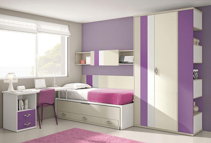 dormitorio juvenil composicin juvenil con cama nido
