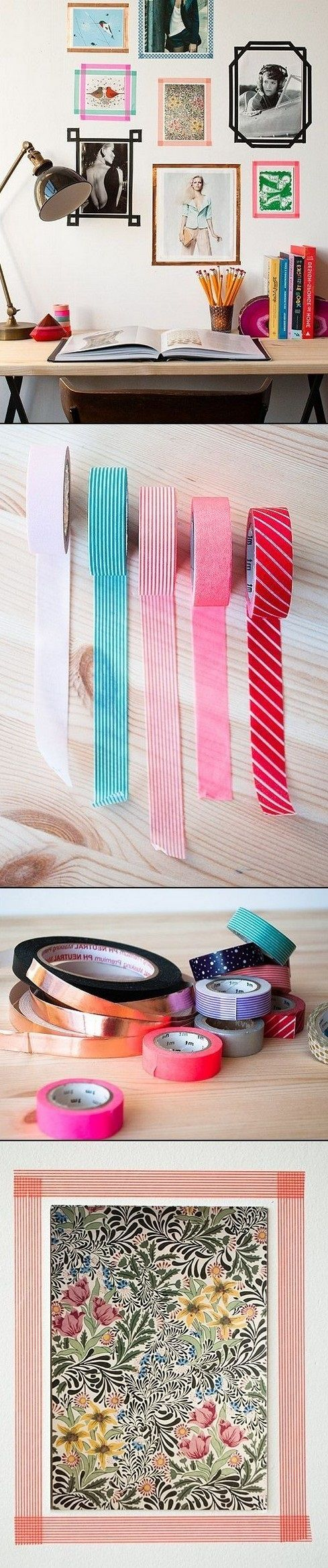 DIY TAPE PICTURES FRAME IDEAS