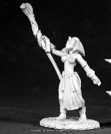 Dark Heaven Legends > Egyptian Sorceress    Reaper Miniatures :: Miniatures