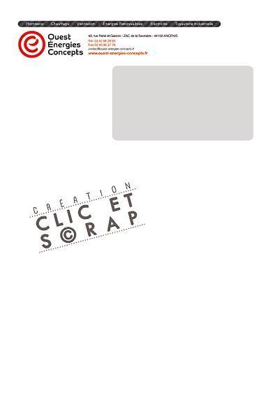 affiche flyer Clic et scrap