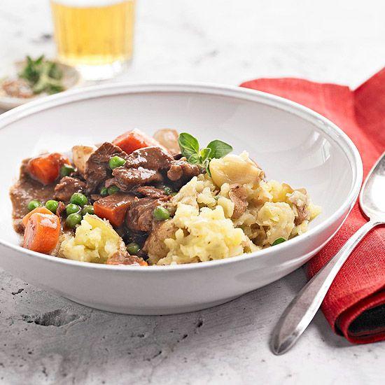 Beef Stew & Garlic Mash