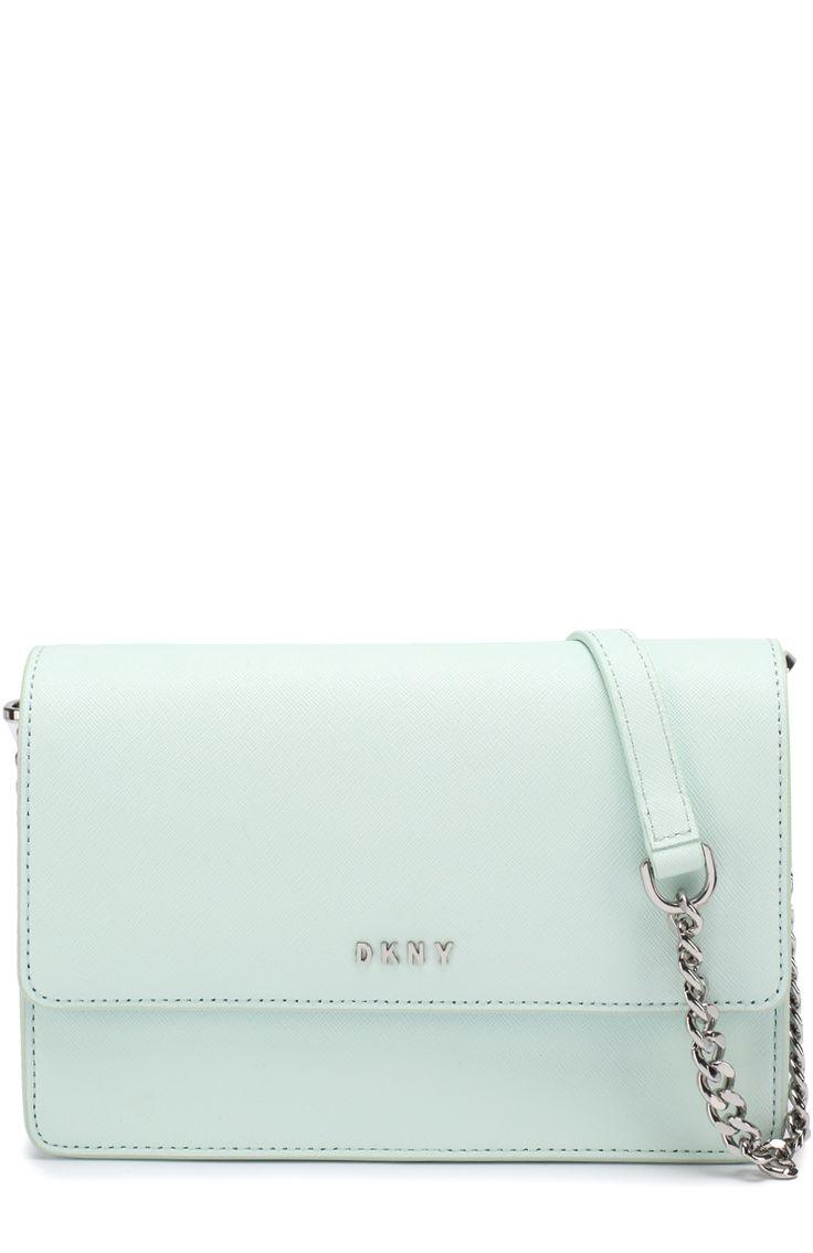 Женская зеленая сумка bryant park small из сафьяновой кожи DKNY, арт. R461140205 купить в ЦУМ | Фото №1