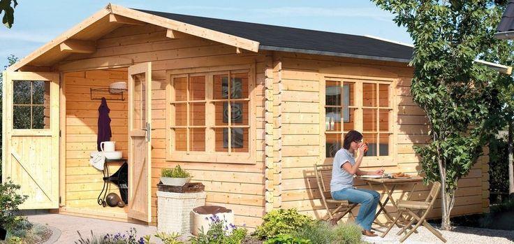 Karibu Gartenhaus »Hardenberg 2«, BxT: 400x400 cm für 2.129,99€. Blockbohlenhaus »Hardenberg 2«, BxT: 400 x 400 cm, Wandstärke: 28 mm bei OTTO