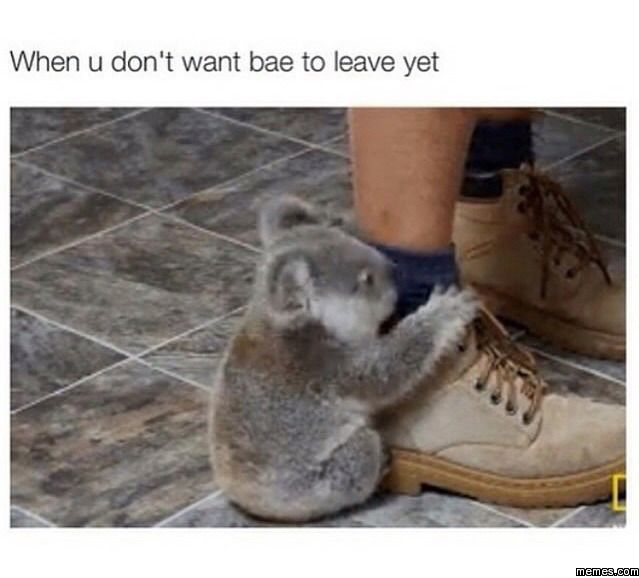 When u don't want bae to leave yet | Memes.com
