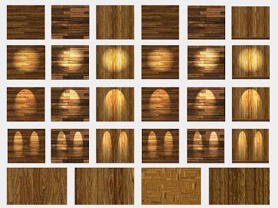 ..::RO!ACT::..DESIGNS Builder's Kit: 28 Light Wood Floors