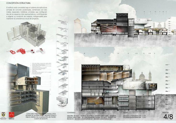 Primer Lugar Concurso Internacional: Ampliación del Teatro Colón de Bogotá, Colombia